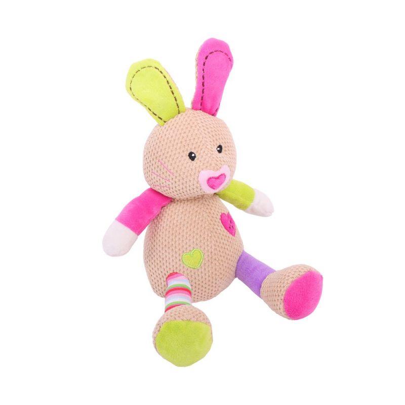 Dřevěné hračky Bigjigs Baby Textilní postavička - Králíček Bella Bigjigs Toys