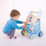 Dřevěné hračky Bigjigs Baby Dřevěné aktivní chodítko moře Bigjigs Toys