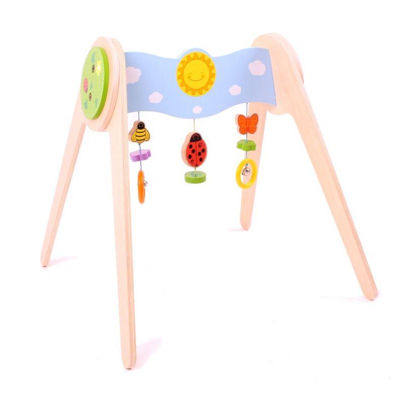 Dřevěné hračky Bigjigs Baby Hrazda s beruškou Bigjigs Toys