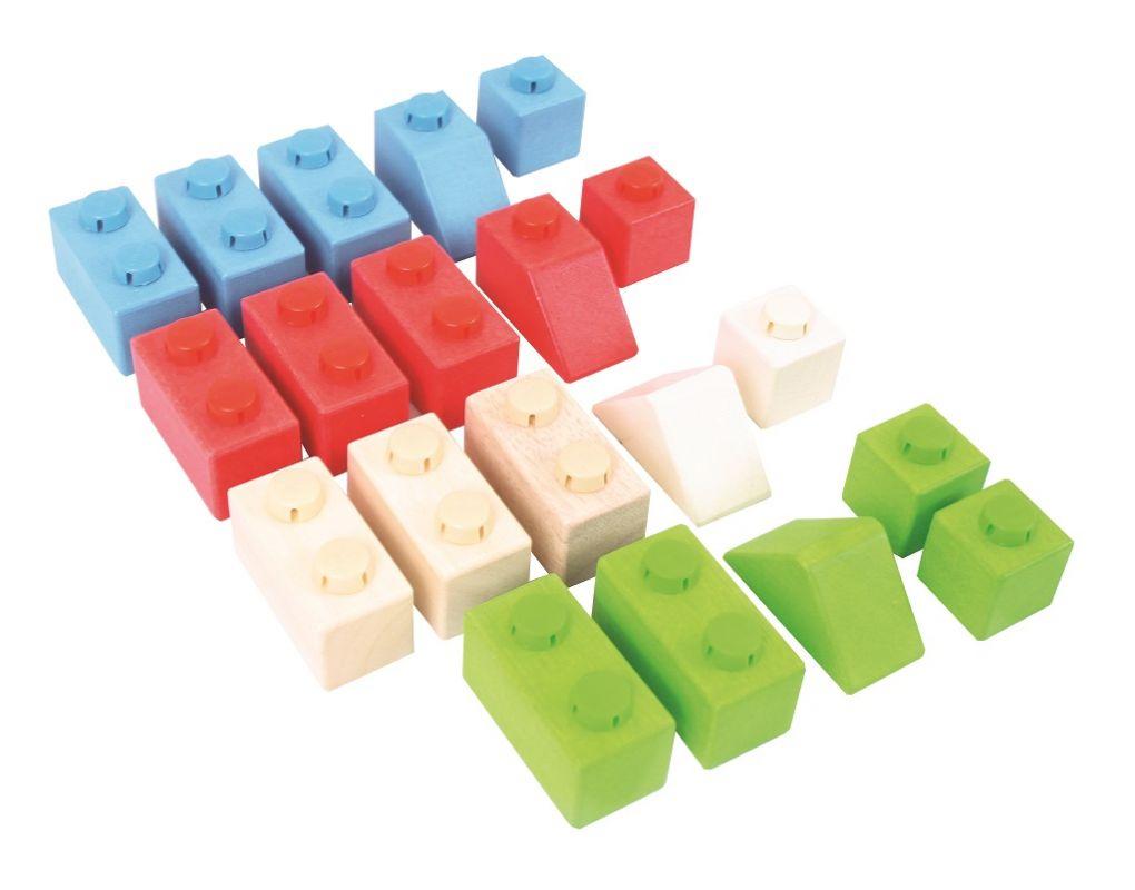 Dřevěné hračky Bigjigs Baby Dřevěné Spojkostky - Primary set Bigjigs Toys