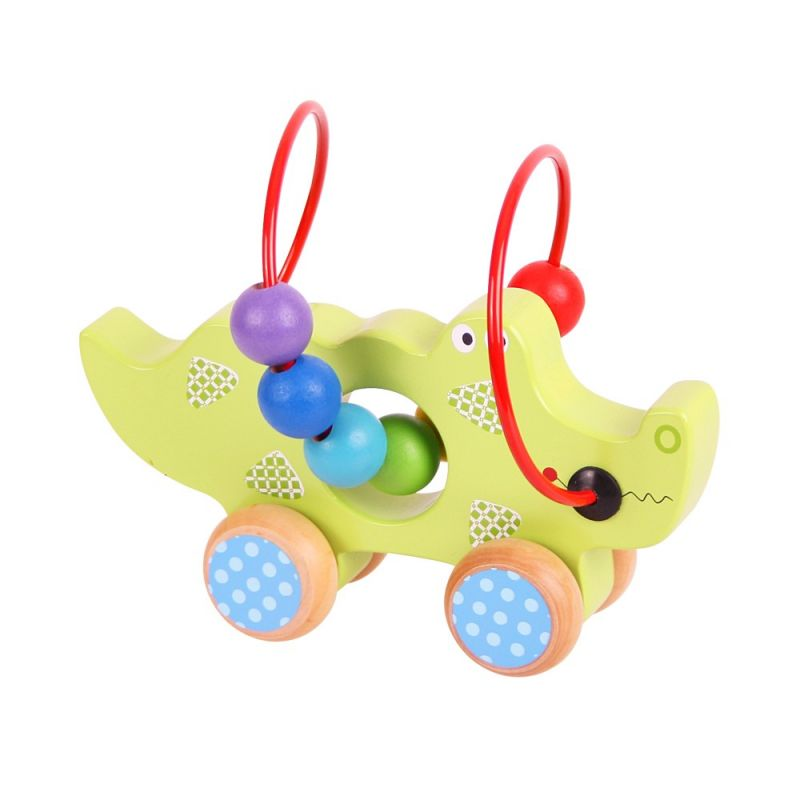 Dřevěné hračky Bigjigs Baby Motorický labyrint krokodýl Bigjigs Toys