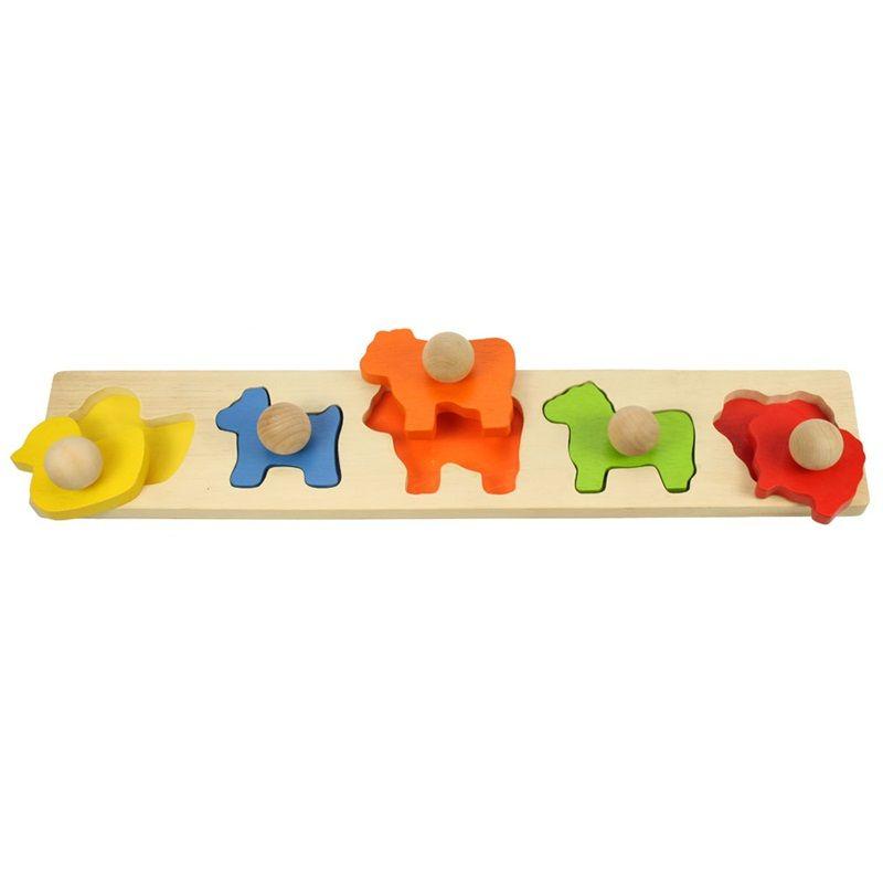 Dřevěné hračky Bigjigs Baby Vkládací puzzle zvířata Bigjigs Toys
