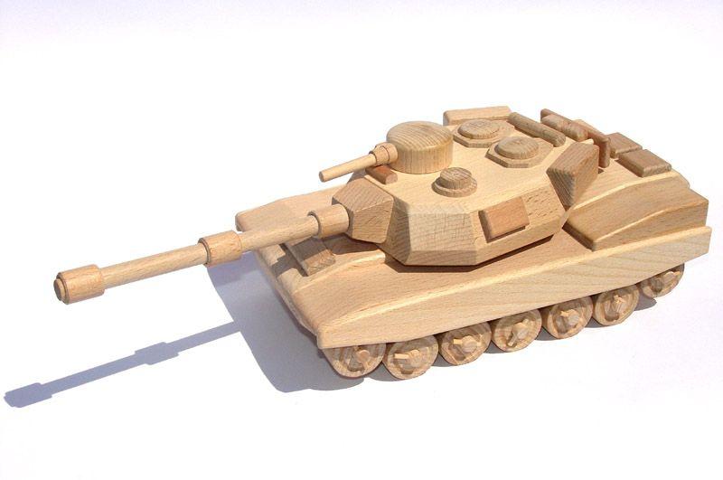 Dřevěné hračky Ceeda Cavity Tank americký přírodní