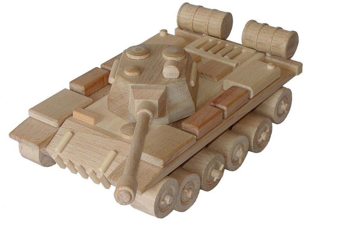 Dřevěné hračky Ceeda Cavity Tank ruský přírodní