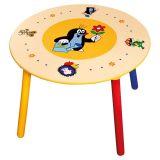 Dřevěné hračky Bino Dětský stolek 2 sedátka Krteček