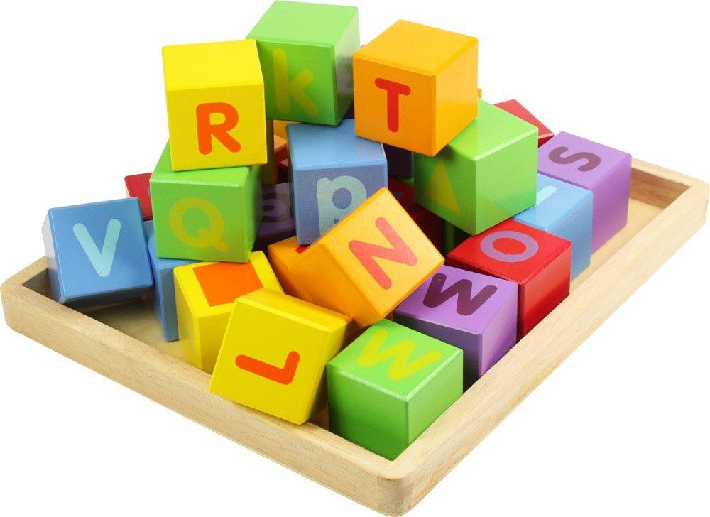 Dřevěné hračky Bigjigs Baby Dřevěné kostky s abecedou Bigjigs Toys