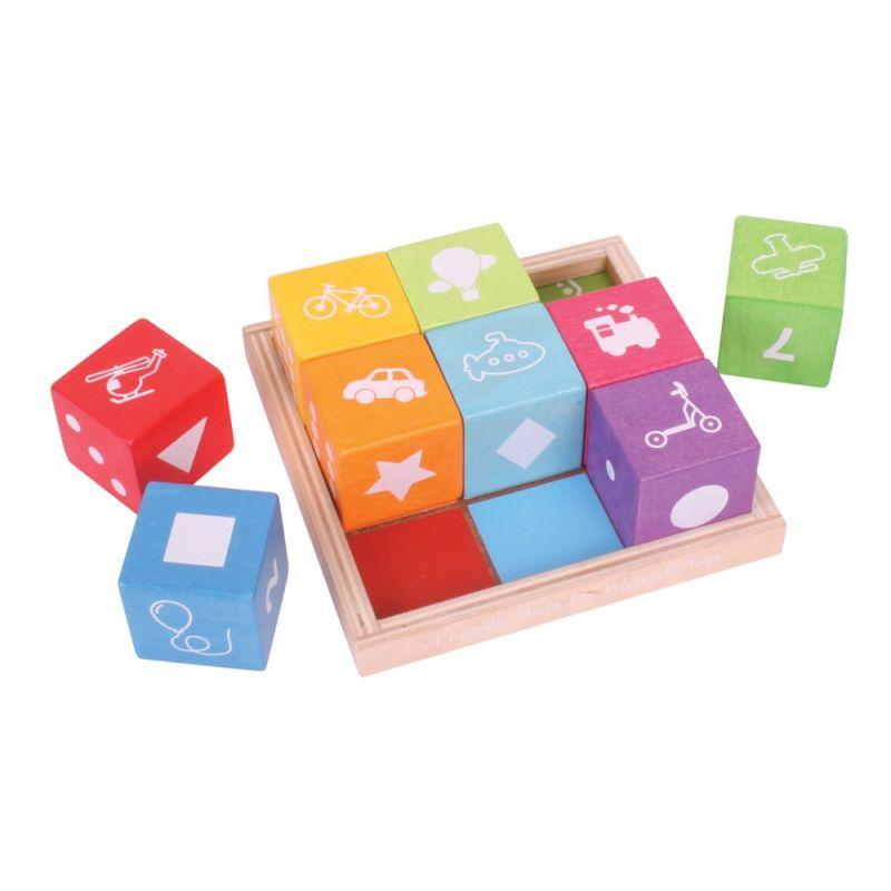 Dřevěné hračky Bigjigs Baby Dřevěné kostky s obrázky Bigjigs Toys