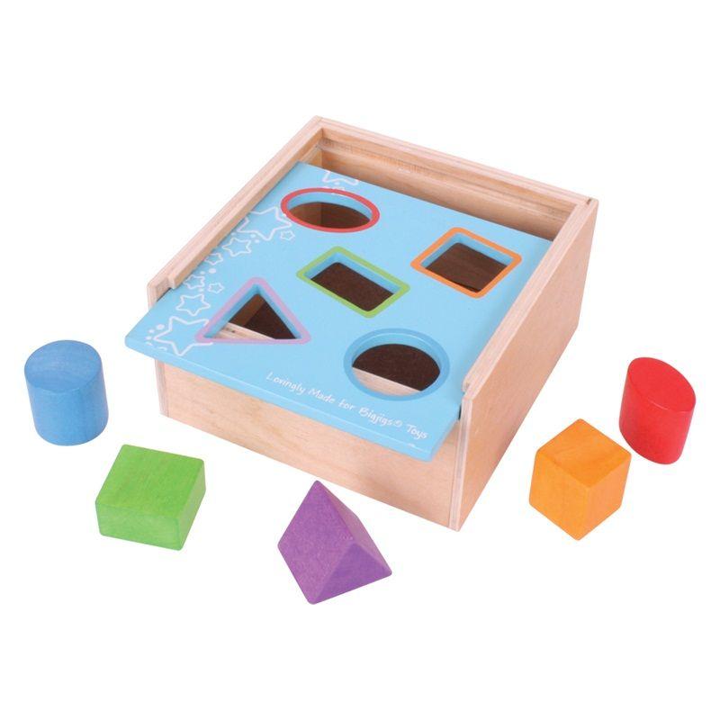 Dřevěné hračky Bigjigs Toys Vkládací krabička s tvary