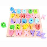 Dřevěná motorická vzdělávací hračka - Abeceda velká písmena