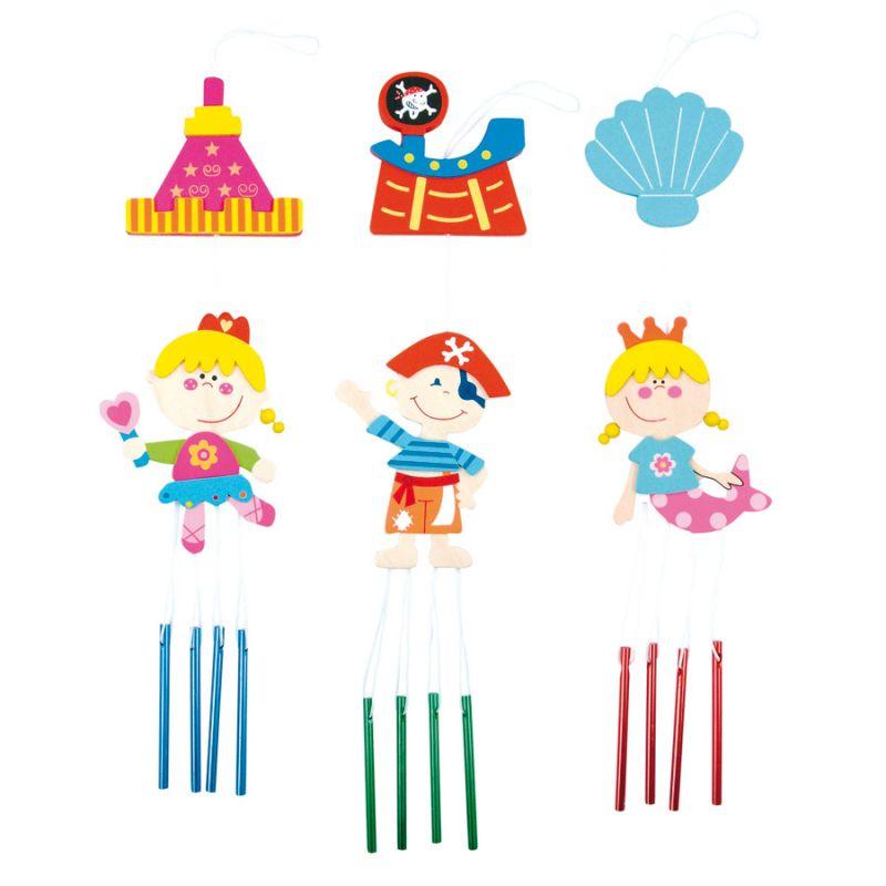 Dřevěné hračky Bino Dřevěný závěs se zvonky 1ks