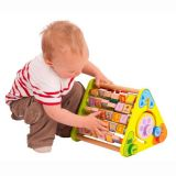 Dřevěné hračky Bigjigs Baby Aktivní trojúhelník s angličtinou Bigjigs Toys