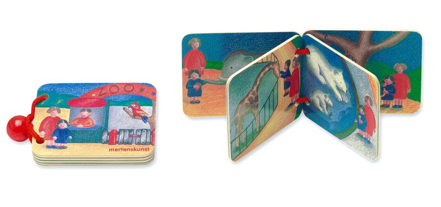 Dřevěné hračky Dřevěná knížka ZOO Mertens