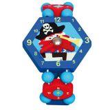 Dřevěné hračky - Dřevěné hodinky pirát - modré