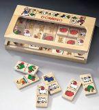 Dřevěné hračky - dřevěné hry - Domino-statek velké