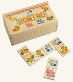Dřevěné hračky - dřevěné hry - Minidomino - domácí zvířata