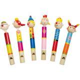 Dřevěné hračky -Dřevěné hudební nástroje - Píšťalka s pístem