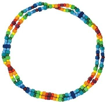Dřevěné hračky Detoa Dětský náhrdelník duhový