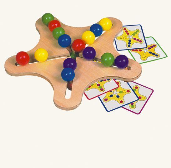 Dřevěné hračky Bino Dřevěný motorický hlavolam hvězda