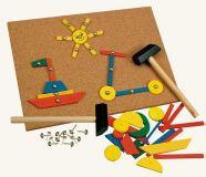 Dřevěné hračky - Hra s kladívkem, 229 dílků