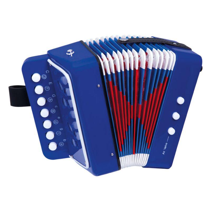 Dřevěné hračky Bino Tahací harmonika modrá