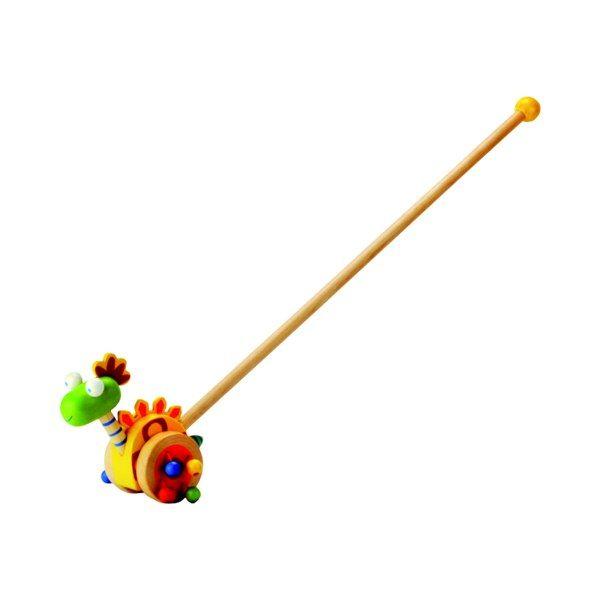 Dřevěné hračky Bino Jezdík dinosaurus