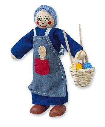 Dřevěné hračky Dřevěné hračky - Panenka do domečku babička Mertens