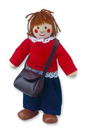 Dřevěné hračky Dřevěné hračky - Panenka do domečku maminka Mertens