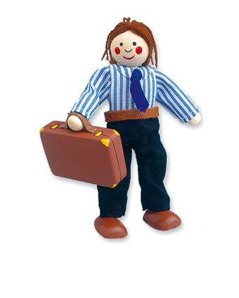 Dřevěné hračky Dřevěné hračky - Panenka do domečku tatínek Mertens