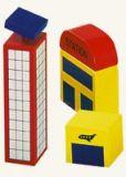 Dřevěné hračky - Příslušenství k vláčkodráze - letiště 3 ks