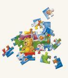 Dřevěné hračky -  Puzzle na desce - medvěd s myškou -Oli & L