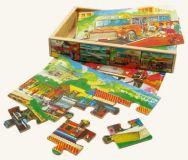 Dřevěné hračky -  Puzzle v krabičce - doprava