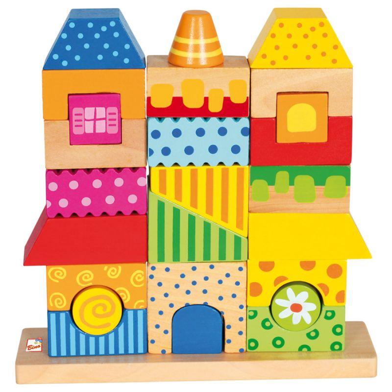 Dřevěné hračky Bino Dřevěné hračky skládanka domeček