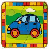 Dřevěné hračky -  Vkládací puzzle auto