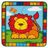 Dřevěné hračky -  Vkládací puzzle lev
