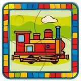 Dřevěné hračky -  Vkládací puzzle lokomotiva