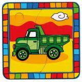 Dřevěné hračky -  Vkládací puzzle nákladní auto