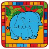 Dřevěné hračky -  Vkládací puzzle slon