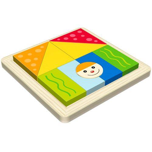 Dřevěné hračky HJ Toys Dřevěné vkládací puzzle tvary
