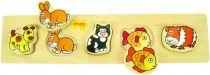 Dřevěné vkládací puzzle - Domácí zvířata