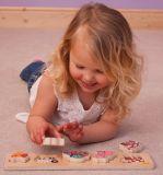 Dřevěné hračky Bigjigs Baby Dřevěné vkládací puzzle farma Bigjigs Toys