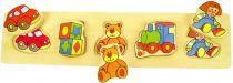 Dřevěné hračky Bigjigs Baby Dřevěné vkládací puzzle hračky Bigjigs Toys