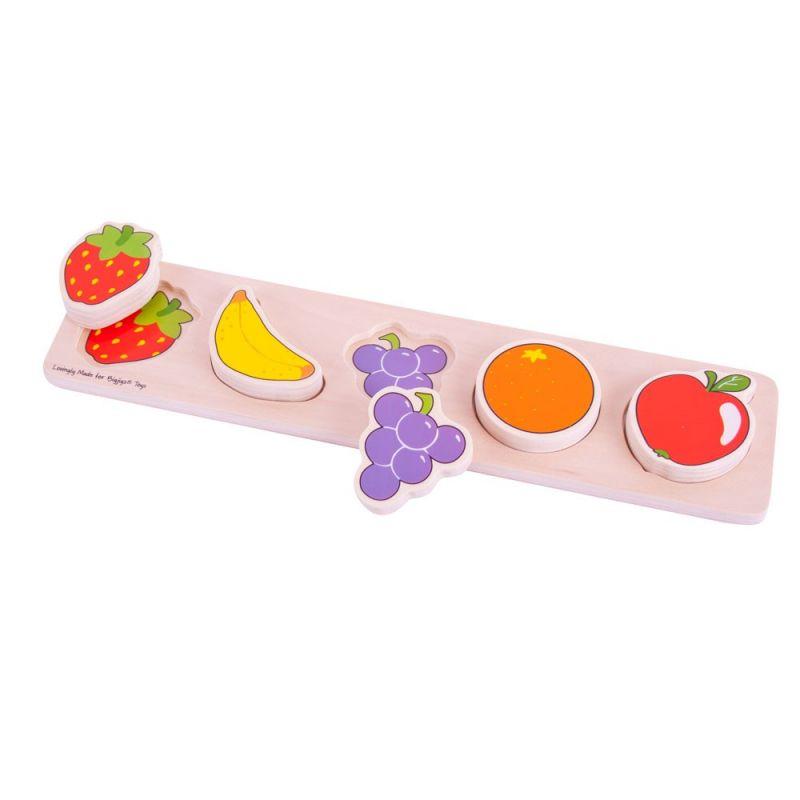 Dřevěné hračky Bigjigs Baby Dřevěné vkládací puzzle Ovoce Bigjigs Toys