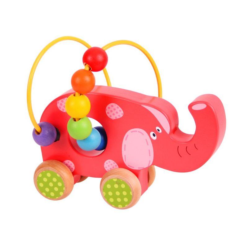Dřevěné hračky Bigjigs Baby Motorický labyrint slon Bigjigs Toys
