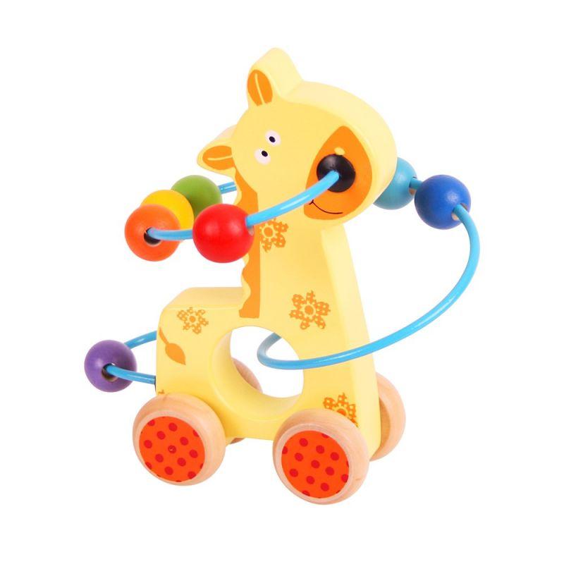 Dřevěné hračky Bigjigs Baby labyrint na kolečkách žirafa Bigjigs Toys