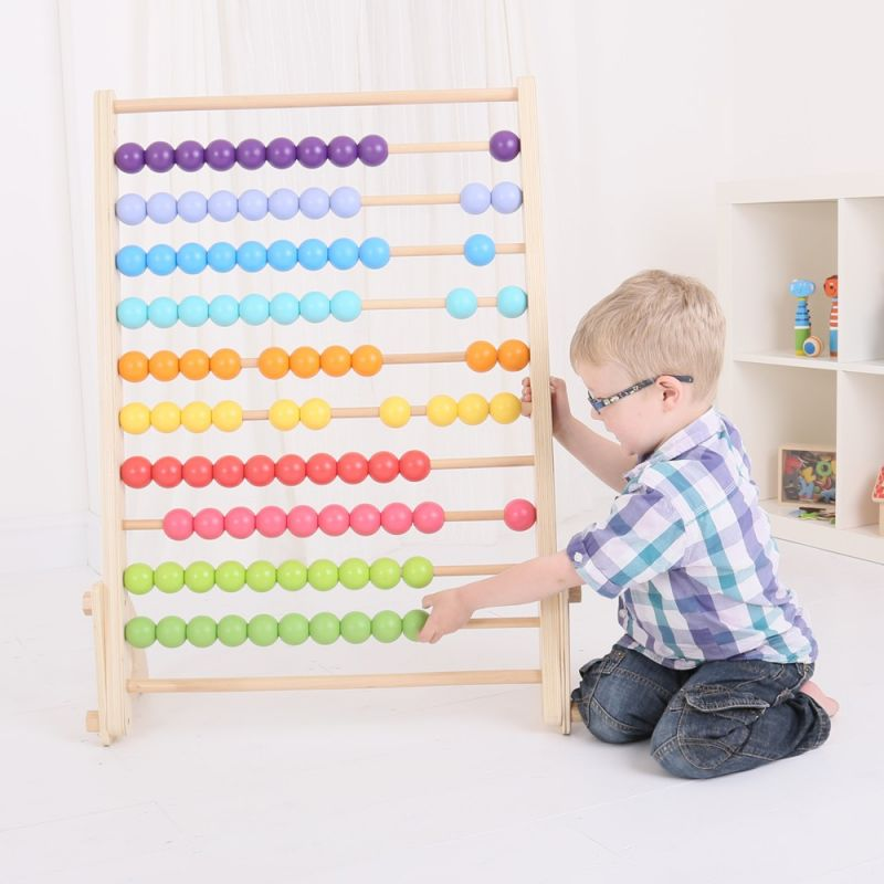 Dřevěné hračky Bigjigs Baby Obrovské dřevěné počítadlo Bigjigs Toys