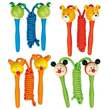 Dřevěné hračky Bino Švihadlo zvířátko