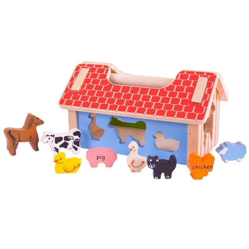 Dřevěné hračky Bigjigs Baby Vkládací farma se zvířátky Bigjigs Toys