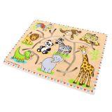 Velký dřevěný labyrint na desce - Safari