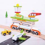 Dřevěné hračky Bigjigs Rail Dřevěná vláčkodráha doprava 125 dílů