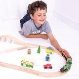 Dřevěné hračky Bigjigs Rail Dřevěná vláčkodráha Flying scotsman